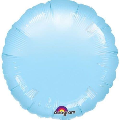 Metallic Pearl Pastel Blue Circle Foil Balloon