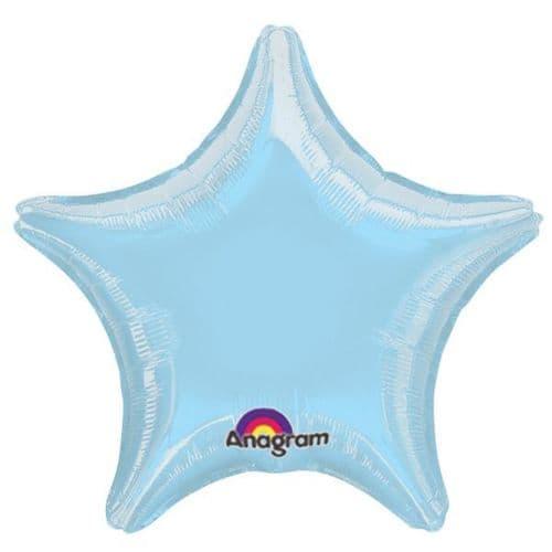 Metallic Pearl Pastel Blue Star Foil Balloon