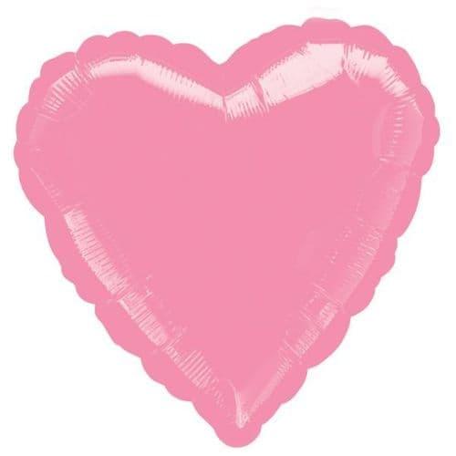 Metallic Pink Heart Foil Balloon