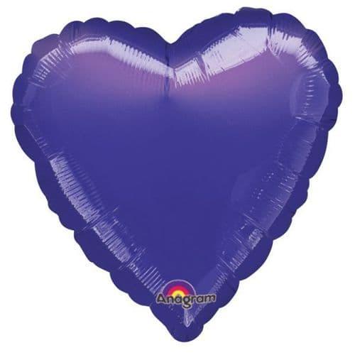Metallic Purple Heart Foil Balloon