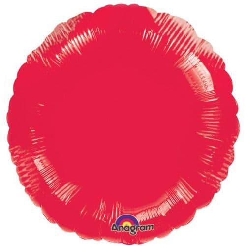 Metallic Red Circle Foil Balloon