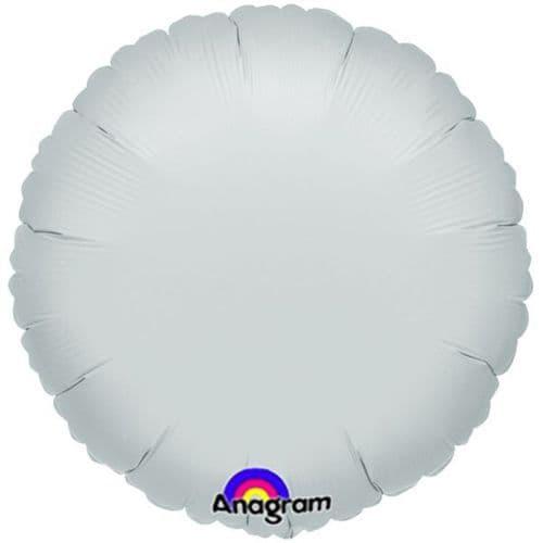 Metallic Silver Circle Foil Balloon