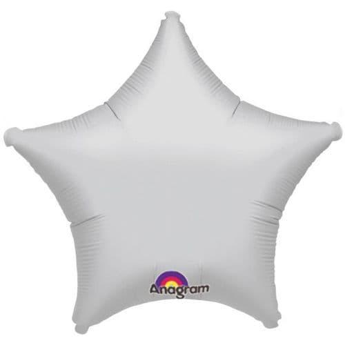 Metallic Silver Star Foil Balloon
