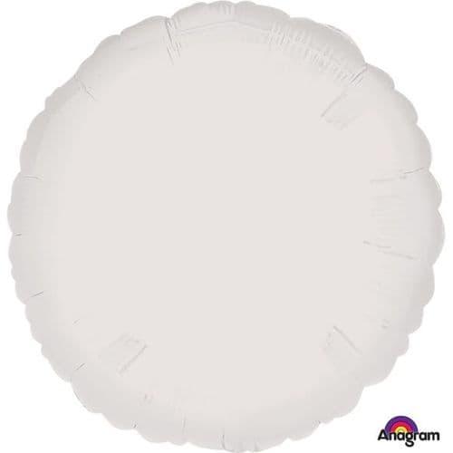 Metallic White Circle Foil Balloon