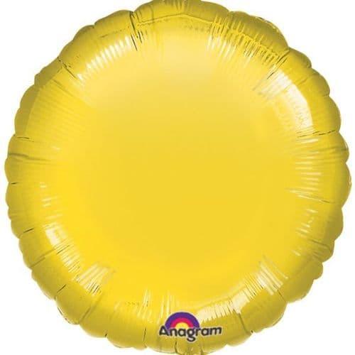 Metallic Yellow Circle Foil Balloon