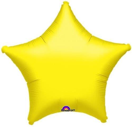Metallic Yellow Star Foil Balloon