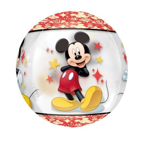 """Mickey Mouse Clear Orbz Foil Balloons 15"""" x 16"""""""