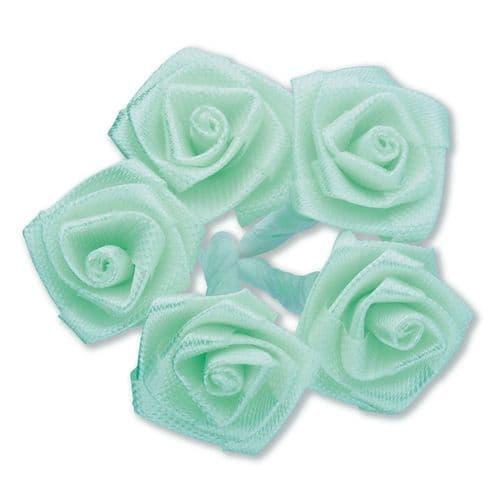 Mint Green Ribbon Roses/Medium - dia. 20mm - packed in 144's