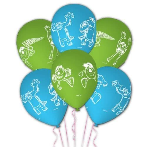 """Monsters University Characters Story Latex Balloons Packet of 6 x 11"""""""