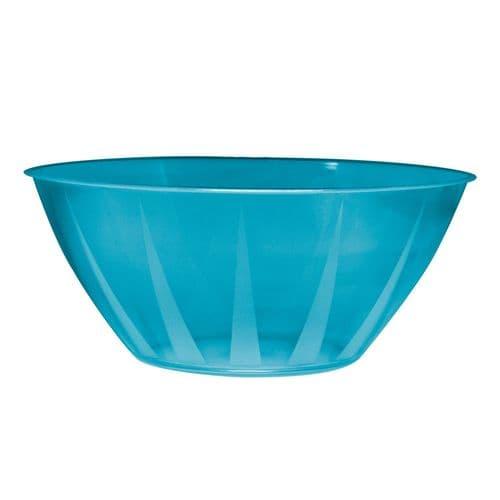 Neon Plastic Blue Large Serving Bowl
