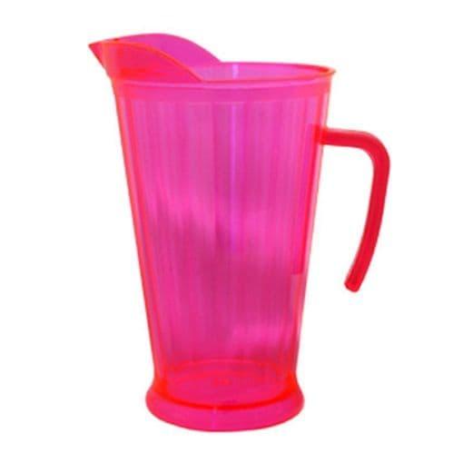 Neon Plastic Pink Pitcher