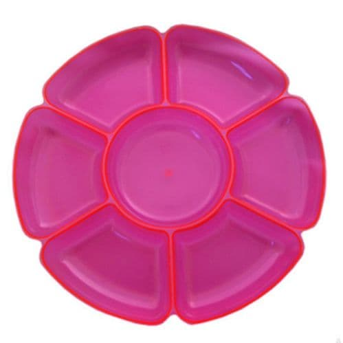 Neon Plastic Pink Section Tray