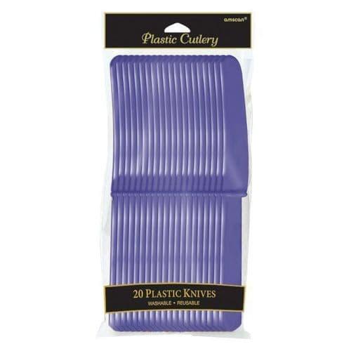 New Purple Plastic Knives 20 per pack.