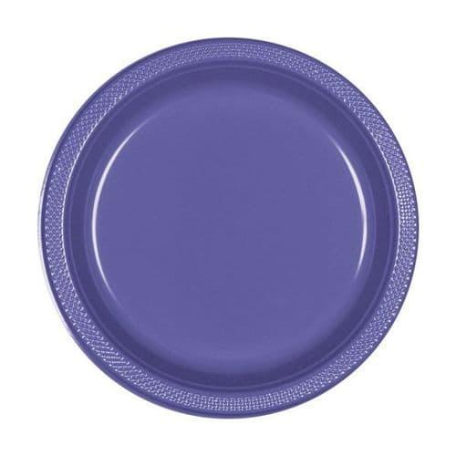 New Purple Plastic Plates 18cm  20 per pack.