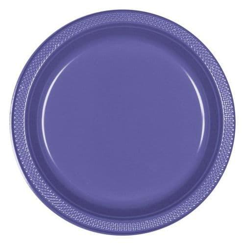 New Purple Plastic Plates 23cm  20 per pack.