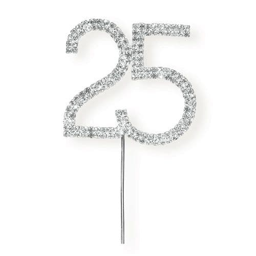 New Style Diamante 25 on Silver Stem