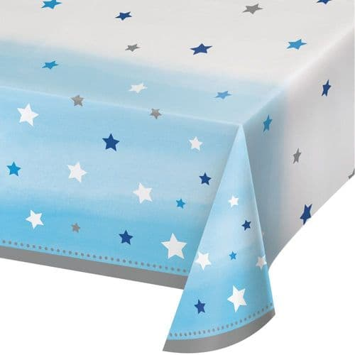 """One Little Star Boy 54"""" x 102"""" Plastic Tablecover"""