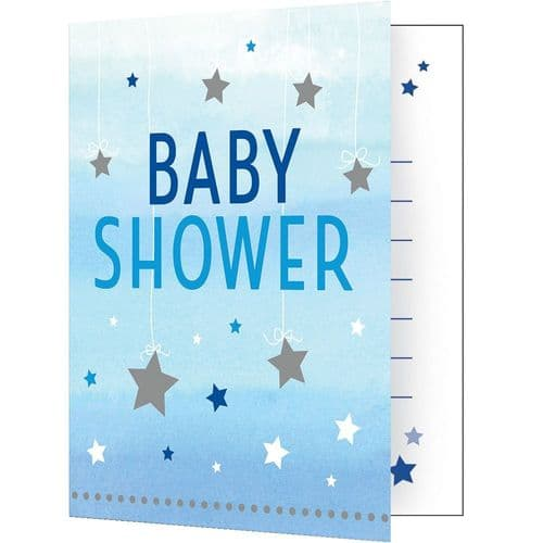 One Little Star Boy 8 Invitations & Envelopes