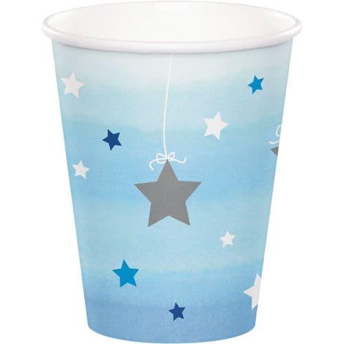 One Little Star Boy 8 x 256ml Paper Cups