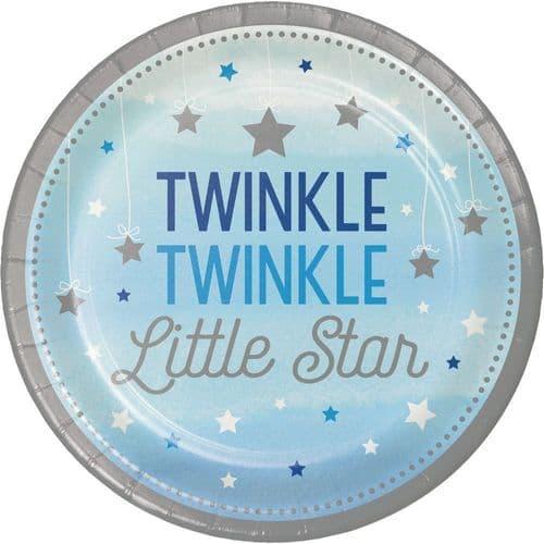 "One Little Star Boy 8 x 9"" Dinner Plates"