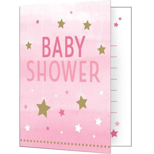 One Little Star Girl 8 Invitations & Envelopes