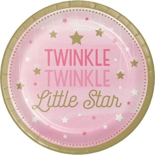 """One Little Star Girl 8 x 9"""" Dinner Plates"""