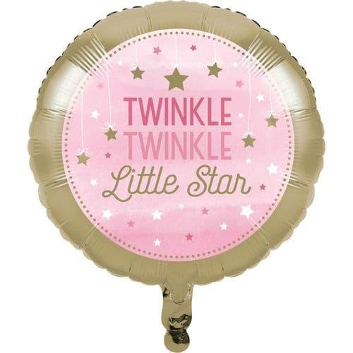 One Little Star Girl Foil Balloon