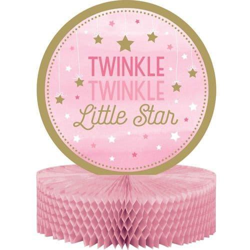 One Little Star Girl Honeycomb Centrepiece