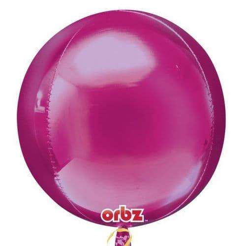 "Orbz Bright Pink Foil Balloon 15"" x 16"""