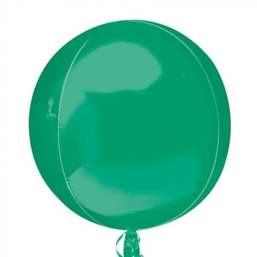 "Orbz Green Foil Balloon 15"" x 16"""