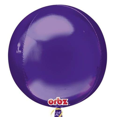 """Orbz Purple Foil Balloon 15"""" x 16"""""""
