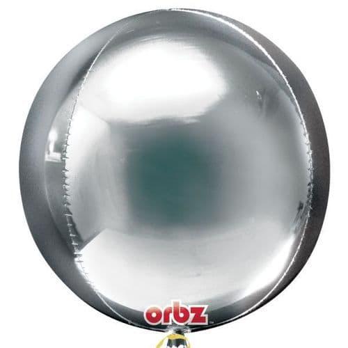 "Orbz Silver Foil Balloon 15"" x 16"""