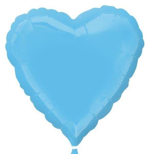 Pale Blue Heart Foil Balloon