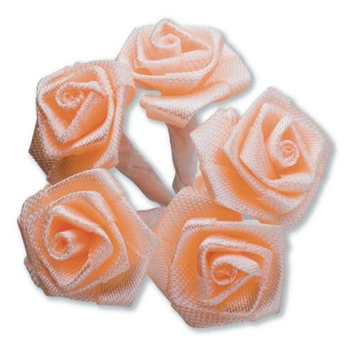 Peach Ribbon Roses/Medium - dia. 20mm - packed in 144's