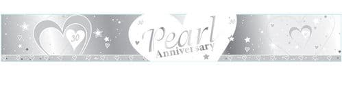 Pearl 30th Anniversary Foil Banner 9ft