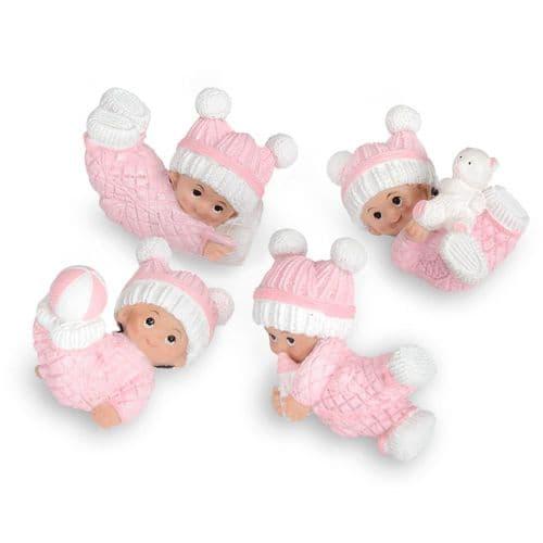 Pink Resin Playful Baby Girl