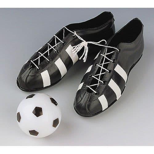Plastic Football & Boots Set