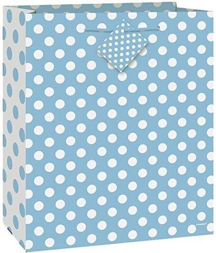 Powder Blue Dot Giftbag-Large