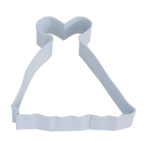 Princess Gown Poly-Resin Coated Cookie Cutter White