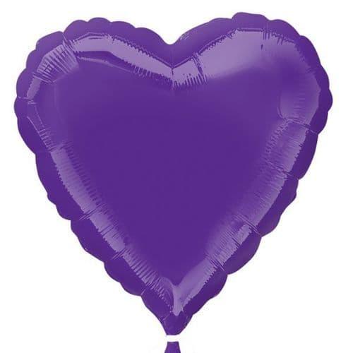 Quartz Purple Heart Foil Balloon