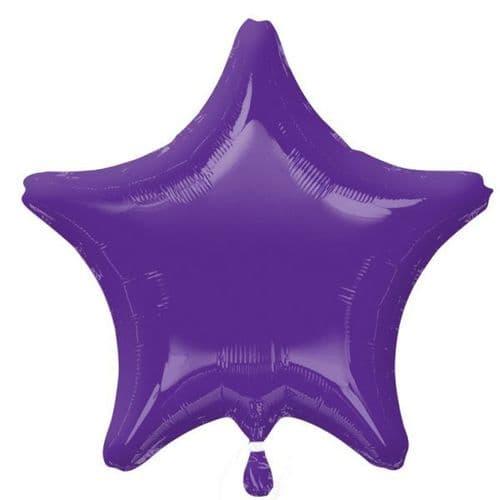 Quartz Purple Star Foil Balloon