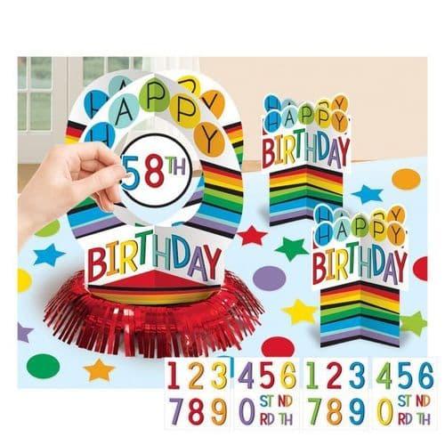Rainbow Personalised Table Decoration Kits