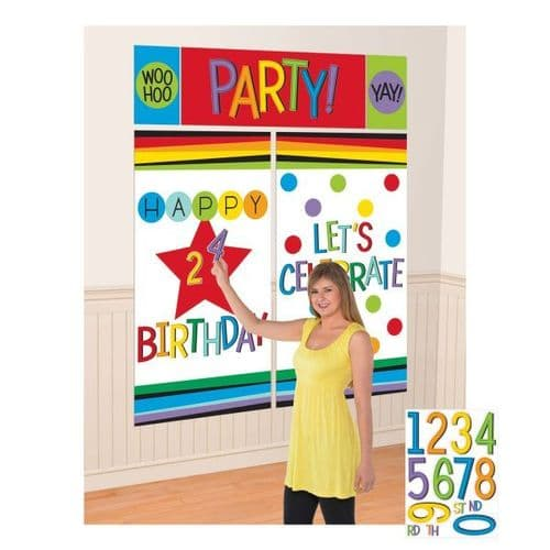 Rainbow Personalised Wall Decoration Kits pack of 5.