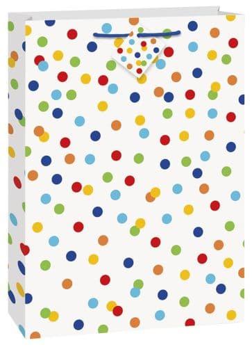 Rainbow Polka Dot Giftbag-Jumbo