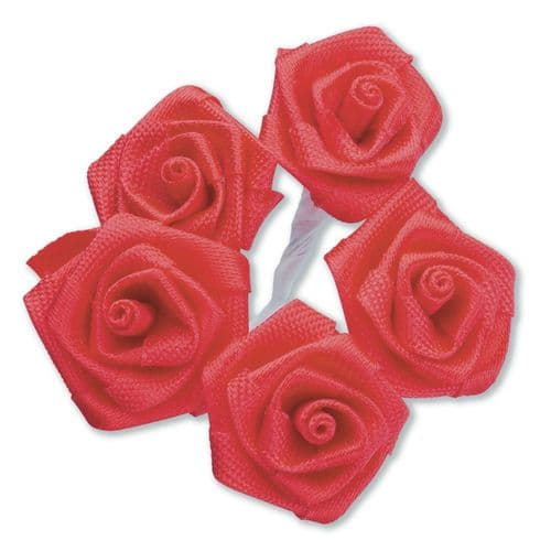 Red Ribbon Roses/Medium - dia. 20mm - packed in 144's