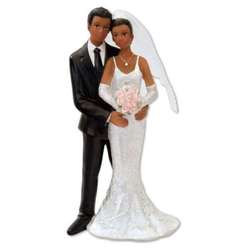Resin Black Bride & Groom Standing - 2 Assorted/1 supplied