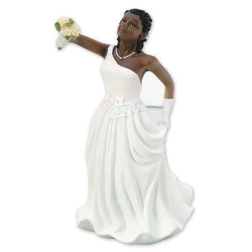 Resin Inter-Change Black/African Bride Figure