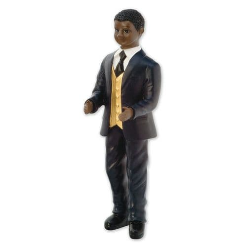 Resin Inter-Change Black/African Groom Figure