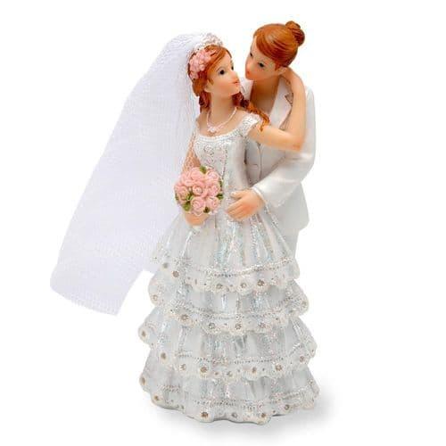 Resin Same Sex Female Couple Wedding Cake Topper
