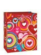 Retro Hearts Gift Bag - Large